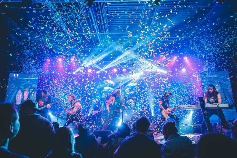 The Hair Band Night live in concert with confetti